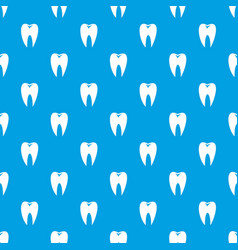 tooth pattern seamless blue vector image