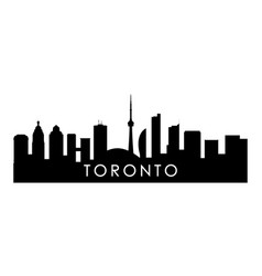 toronto skyline silhouette black city vector image