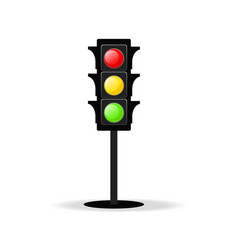 traffic light icon on white stock vector image