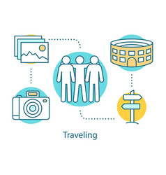Traveling concept icon vector