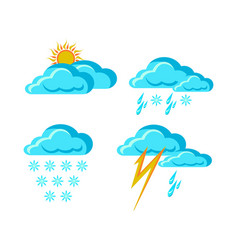 Weather forecast signs vector