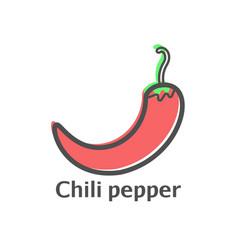 web line icon pepper chili vector image