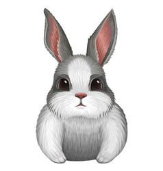 White bunny isolated on white vector
