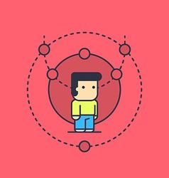 balanced logical thinking vector image