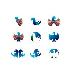 bird logo collection vector image