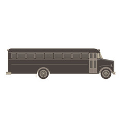 bus school transport icon isolated flat child car vector image