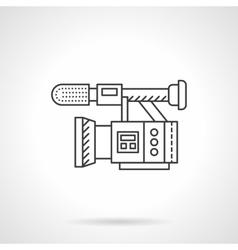 Film camera flat line design icon vector image vector image