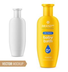 shampoo bottle template vector image vector image