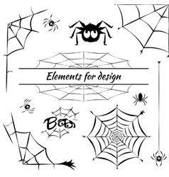 cobweb set of elements for design vector image