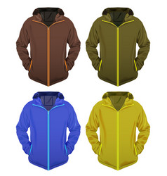 four jackets set vector image