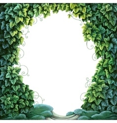 Frame for text decoration Enchanted Forest from vector image vector image
