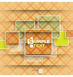 Square Element On Stripes Background vector image