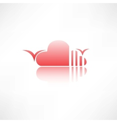 abstract cloud icon vector image vector image