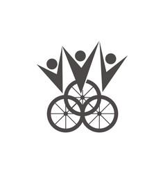 bike winner vector image vector image
