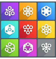 Flat abstract icon with shadow vector image vector image