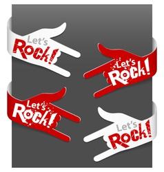 Lets rock vector