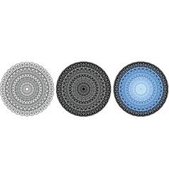 mysterious beautiful mandala for coloring book vector image