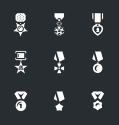 set of military award icons vector image