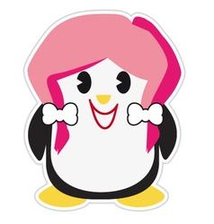 Teenage penguin vector image vector image