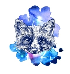 animal on watercolor space vector image vector image