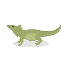 lizard cartoon icon in flat design vector image vector image