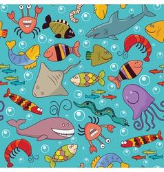 Seamless underwater wildlife vector