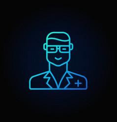 veterinarian doctor blue icon vector image vector image