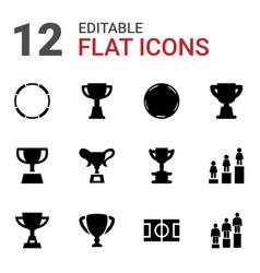12 championship icons vector
