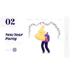 2020 party celebration website landing page happy vector image