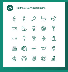 25 decoration icons vector