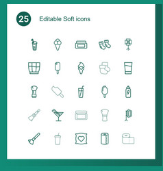 25 soft icons vector