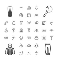 37 male icons vector