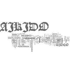 aikido video text word cloud concept vector image