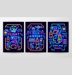 airport flyer concepts vector image