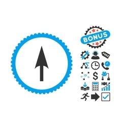 Arrow Axis Y Flat Icon with Bonus vector image