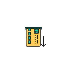 atm icon line design business icon design vector image