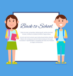back to school color poster vector image