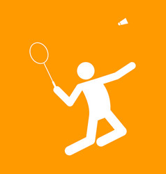 badminton sport figure symbol graphic vector image