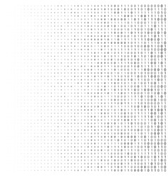 binary code halftone background zero and one vector image