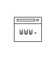 browser internet web line icon simple modern flat vector image