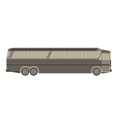 Bus express flat logo transport icon black blank vector