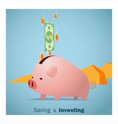 Business concept Idea Saving and Investment vector image
