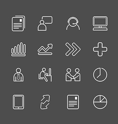 business white line Icons set vector image