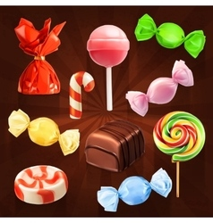 Candies icons vector