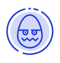 celebration decoration easter egg blue dotted vector image