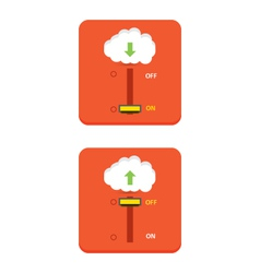Cloud download and upload icon 28 vector