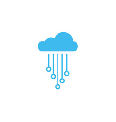 cloud electronic circuit icon design template vector image