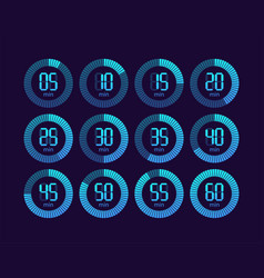 Collection with chronometer timer vector