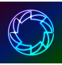 Colorful Glowing Rings - eps10 abstract background vector