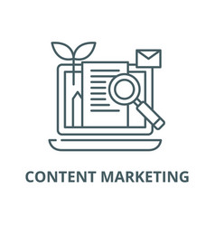 Content marketing line icon linear concept vector